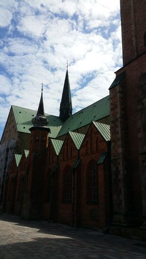 Architecture Travel Destinations Built Structure Cloud - Sky Sky Outdoors Denmark Ribe Light And Shadow Clouds And Sky Dänemark Danmark Kirche Tower Church Kirke