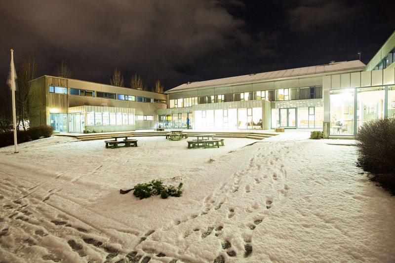 Reykjavik city hostel outside view of ice during winter Reykjavik Reykjavik Harbour Snow ❄ Architecture Building Exterior Built Structure Illuminated Night No People Outdoors Reykjavik Skyline Reykjavikpride Reykjavikstreetart Sky Snow Snowing