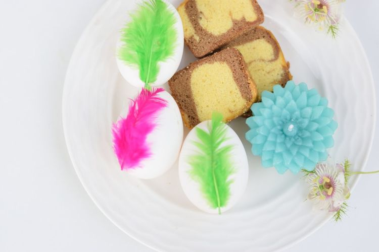 Easter Celebration Easter Eggs Colorful Cakes Flower Head Space Flower Leaf Beauty Close-up Plant Sweet Food