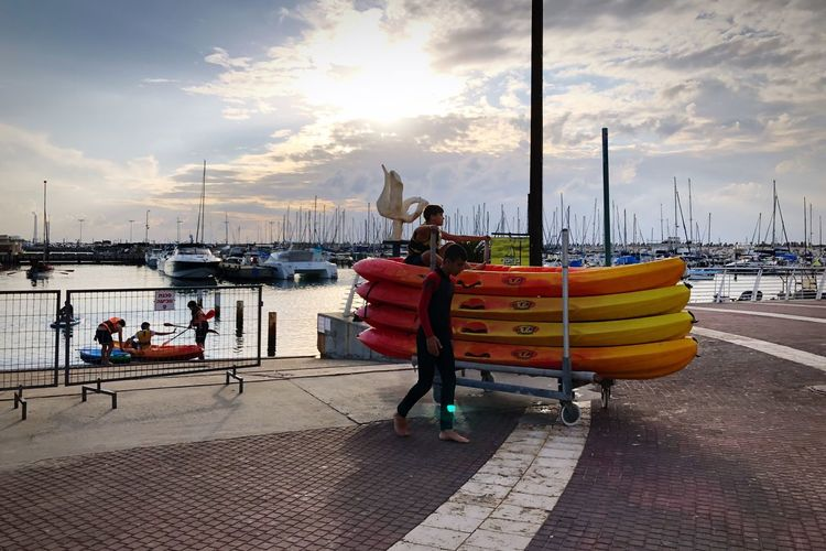Traveling in Ashkelon Marina Port Israel Cloud - Sky Sky Sea Outdoors Day Nautical Vessel Water Harbor Real People Adult Nature One Person Animal Themes People Adults Only Be. Ready.