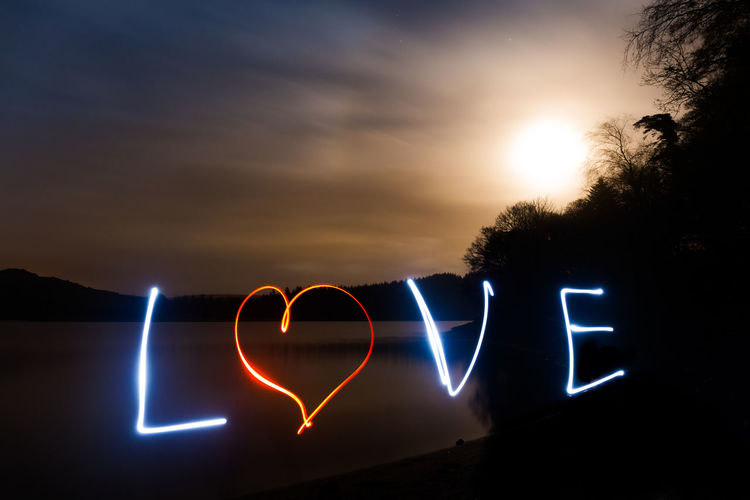 Burrator Reservoir, Dartmoor. The camera is an instrument that teaches people how to see without a camera. 6D Blurred Motion Canon Cloud - Sky Heart Illuminated Light Trail Light Writing Long Exposure Love Love Photography Moon Moonlight Motion Night Outdoors Road Sign Sky