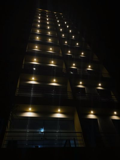 Illuminated Night Low Angle View Architecture Built Structure Lighting Equipment No People Building Exterior Indoors  EyeEmNewHere