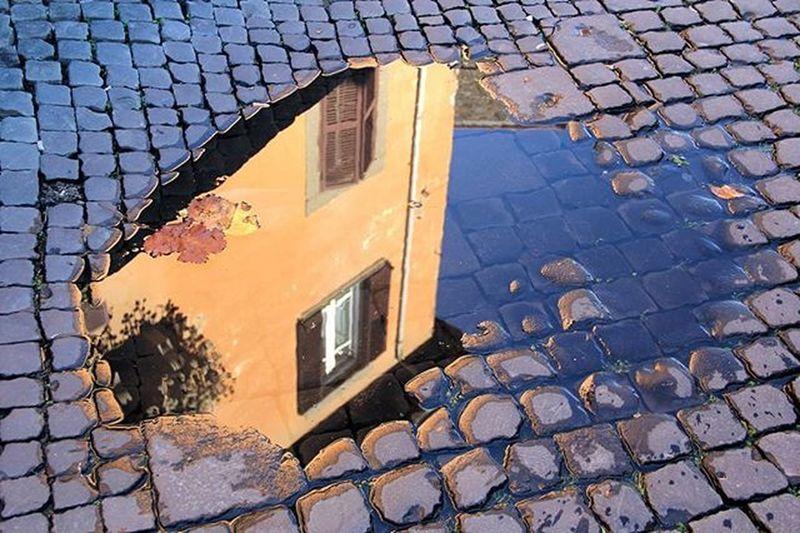 Riflesso Street Strada Edificio Building Pozzanghera Reflection Puddle