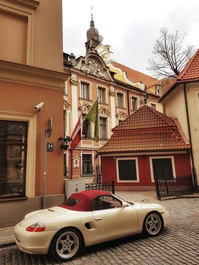 City Scene and Luxury Car Porsche Car Ciry Old Architecture Travel No People Building Exterior Outdoors Day