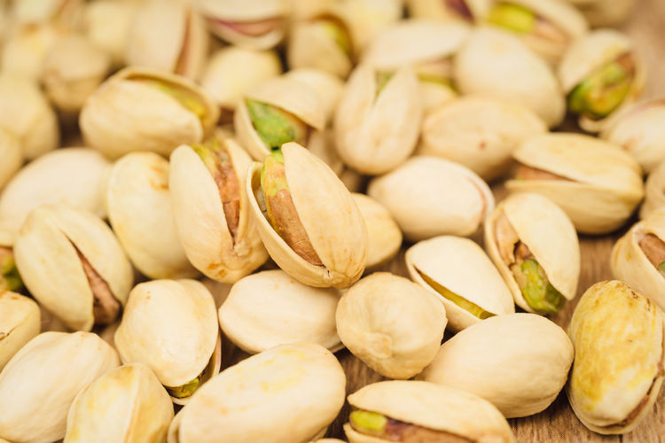 Full frame shot of pistachios at market