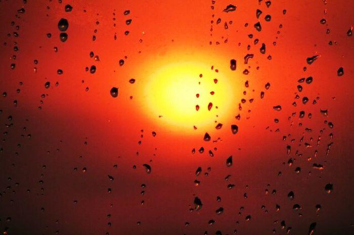 Sunset Silhouettes Rainy Days Rainy Afternoon. Sunset