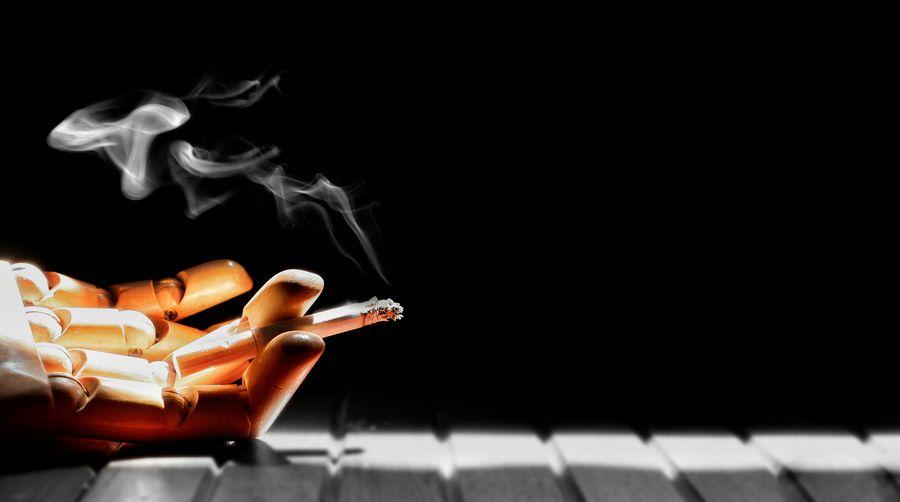 EyeEm Selects Black Background Studio Shot Close-up Bad Habit Cigarette Butt Smoking Smoking Issues Cigarette  Ash Smoking - Activity Addiction Unhealthy Living