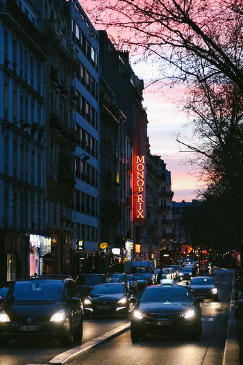 France Montmartre Paris Architecture Building Exterior Car City City Life Illuminated Mode Of Transportation Motor Vehicle Nightlife Outdoors Sexshop Street
