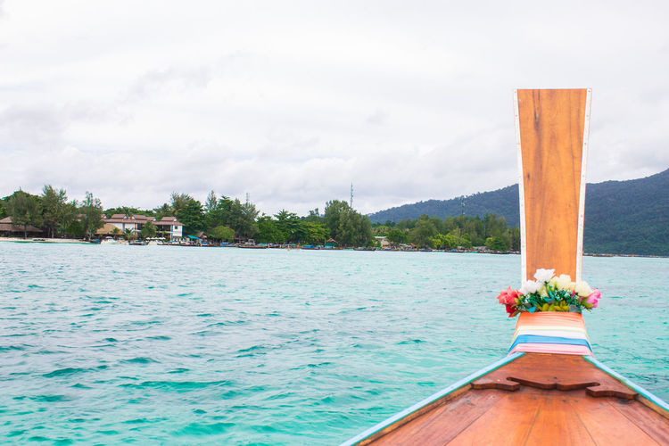 Sky & Sea Beauty In Nature Cloud - Sky Day Land Mode Of Transportation Nature Nautical Vessel No People Outdoors Plant Scenics - Nature Sea Sky Swimming Pool Tranquil Scene Transportation Travel Destinations Tree Turquoise Colored Water Wood - Material