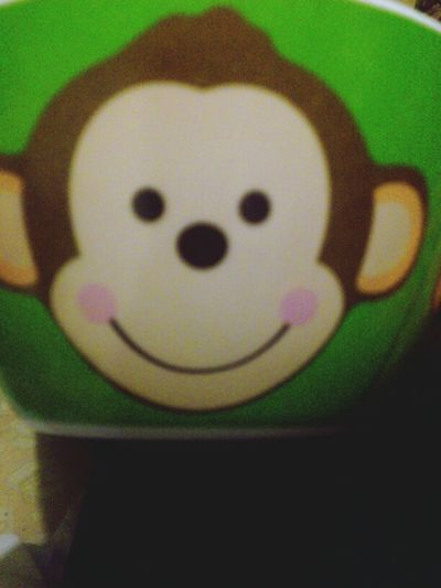 Monkey Green Plato Regalo