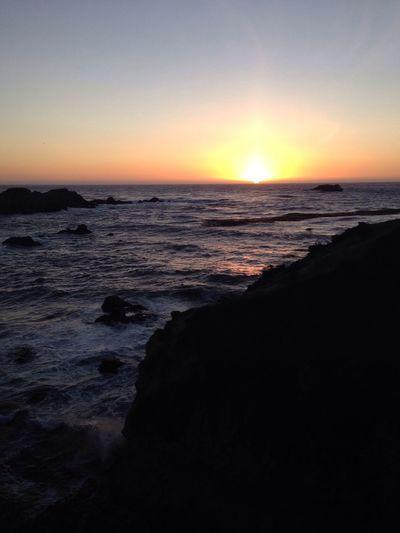 California Sunset California Love Enjoying The Sun Beach Sunset Sea Summer Sunset Highway 1 Orange Sky Orange Waves Rocky Ocean