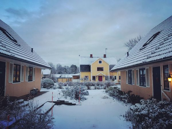 Winter Building Exterior Snow Architecture Weather Cold Temperature House Outdoors Örserum Sweden
