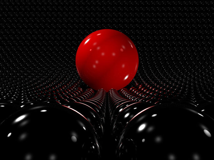 Red Sphere Standing Out Spheres, Background, Individuality, Concept, Standing Out From Crowd, Leadership, Power, Influence, Excellence, Win, First Place, Initiative, Success, Ball, Red, Black, 3d, Teamwork, Digital, Reflect, Abstract, Contrast, Group Of Objects, Shape, Idea, Gro