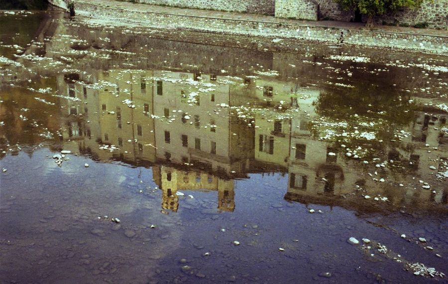 Reflection Reflections Water Medioeval Cities Rock Village Dolceacqua Liguria,Italy Film Photography Water