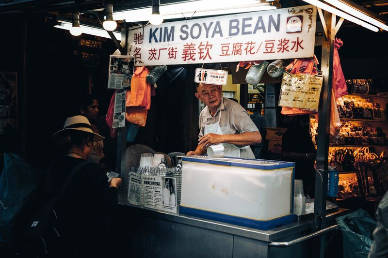 The stall owner