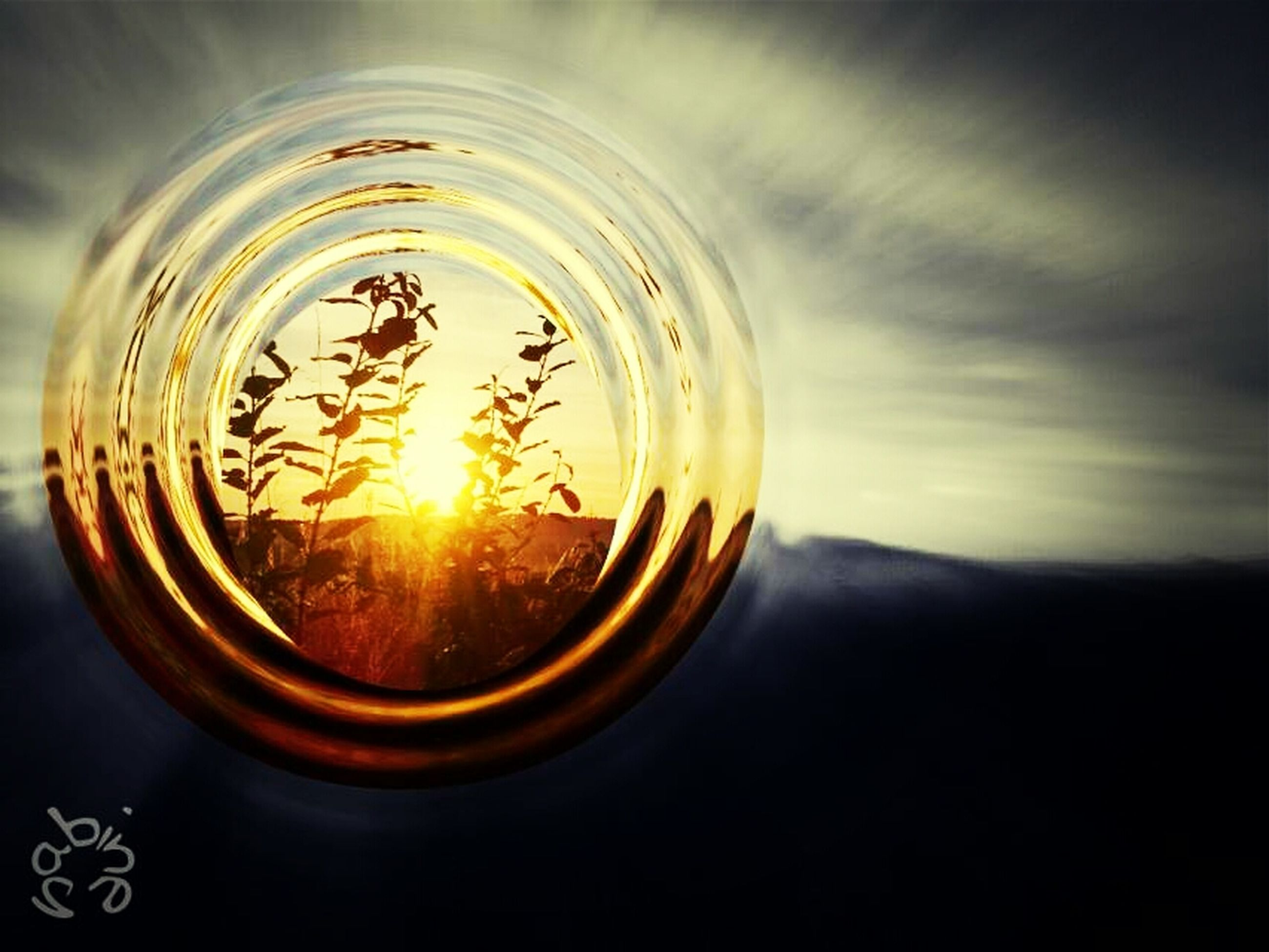 sunset, sun, close-up, orange color, reflection, transparent, glass - material, circle, sky, glowing, indoors, no people, nature, scenics, beauty in nature, tranquility, focus on foreground, sunlight, silhouette, tranquil scene