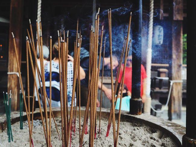 People Together Temple Praying Kinkakuji Temple Kyoto,japan