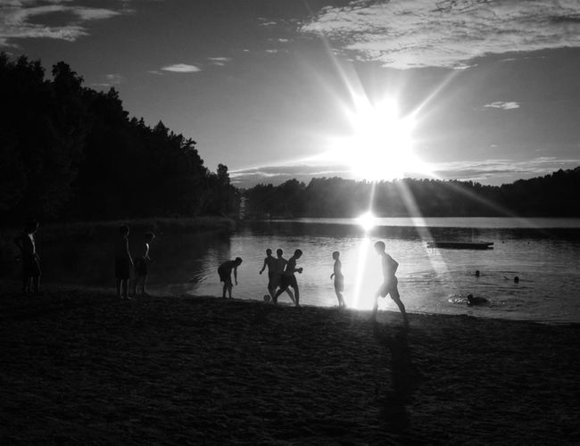 The longest shadows ever cast The waters warm and children swim -Summer Blackandwhite Water_collection Bw_collection Archipelago