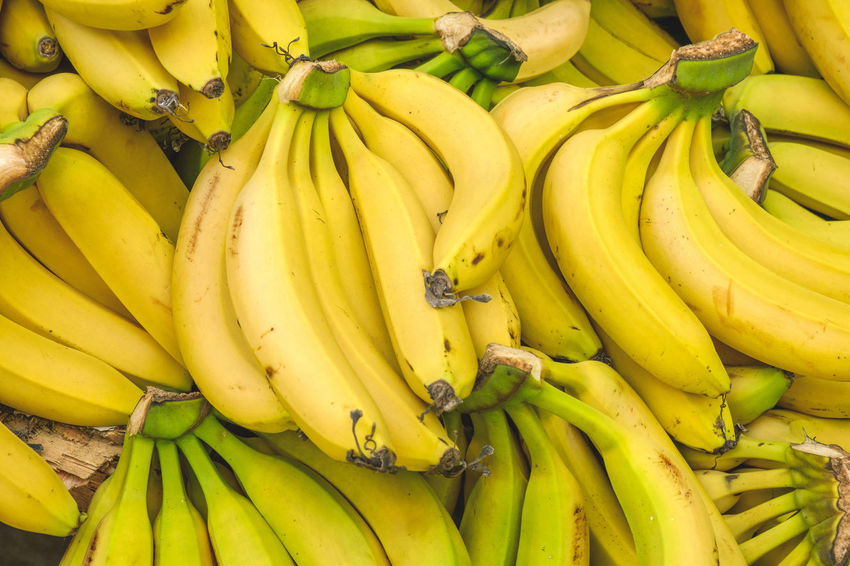 Copy Space Market Vendor Abundance Banana Bunch Close-up Food Food And Drink For Sale Freshness Fruit Full Frame Green Color Healthy Eating Large Group Of Objects Market Market Stall No People Retail  Retail Display Ripe Sale Still Life Wellbeing Yellow