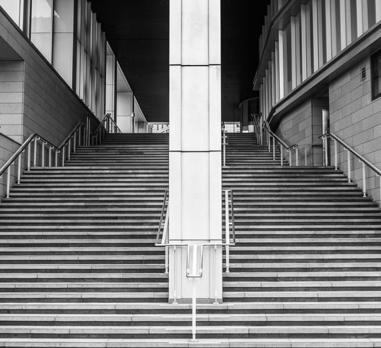 Asia, Korea, Seoul Architecture ASIA Building Building Exterior Built Structure Exterior Geometry In A Row Leading Metal Modern Narrow Pattern Railing Repetition Seoul South Korea Staircase Starbucks Steps Steps And Staircases Structure Symmetry Wall Window