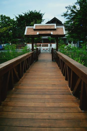 A bridge over Chiang Mai's iconic moat Moat Bridge Chiang Mai Thailand