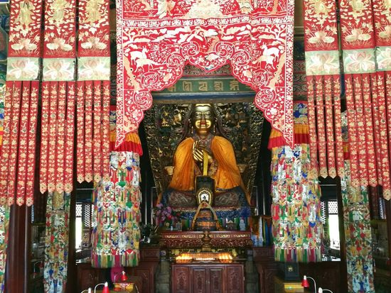 Religion Spirituality No People Indoors  Travel Destinations Statue Culture China Beijing Bhudda Statue Bhuddism Lama Temple China Photos Travel Photography Travel