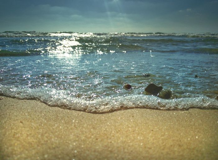 Sea Beach Water Nature No People Beauty In Nature Sand Outdoors Day Sky Horizon Over Water Wave Scenics Close-up Beach 😎 Summer EyeEm Team Tranquility Beauty In Nature Nature Wave Waves Waves, Ocean, Nature Sommergefühle