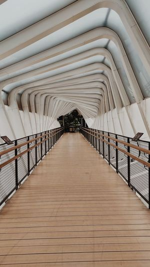 Empty footbridge