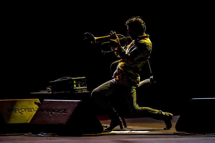 Paolo Fresu Artist Concert Concert Photography Contrast Dark Photography Darkness And Light Flicorno Jazz Live Music LiveMusic Music Musican Musician One Person Only Men Playing Portrait Portrait Photography Portraits Yellow Flugelhorn Flugelhorn Player