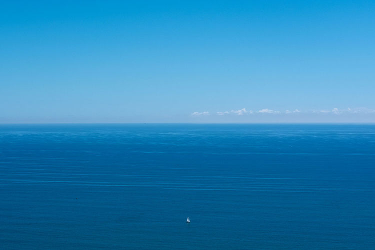 Sea Horizon Over Water Sky Water Scenics - Nature Blue Horizon Beauty In Nature Tranquil Scene Tranquility Copy Space Nature No People Idyllic Clear Sky Day Seascape Outdoors Waterfront