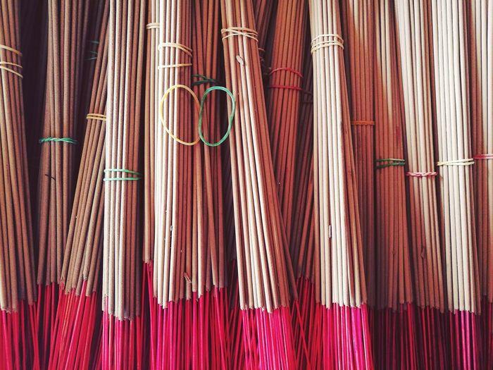 Full Frame Shot Of Incenses