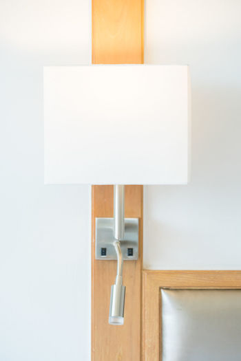 Close-Up Of Electric Lamp At Home