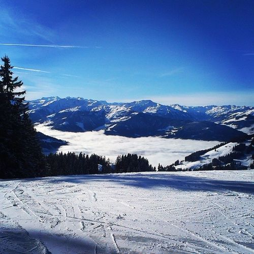 Awesome Snow Skiing Sun Alps Nature Passion