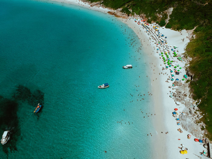 Water High Angle View Sea Nature Beach Scenics - Nature Land Day Transportation Nautical Vessel Aerial View Beauty In Nature Mode Of Transportation Turquoise Colored Incidental People Travel Outdoors Leisure Activity Group Of People