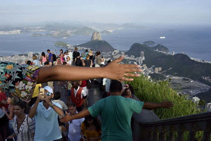 Tourists at Cristo Redentor, Rio de Janeiro Arms Brazil Corcovado Corcovado National Park Cristo Redentor Jesus Christ Large Group Of People Mountain Outdoors Pão De Açucar Rio Rio De Janeiro Sea Street Photography Tourists View The Street Photographer - 2017 EyeEm Awards Neighborhood Map Breathing Space Connected By Travel Connected By Travel