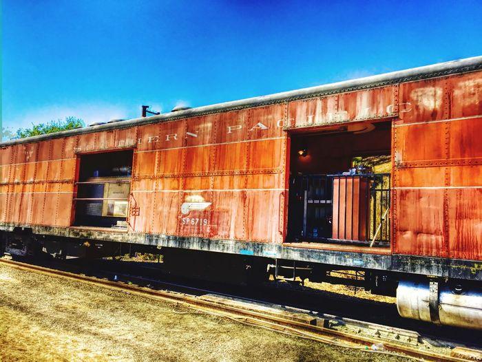 """""""Southern Pacific Freight"""" Train Traincar Freightcar Railway Trains Railroad Railroad Car Old Trains Historic Train"""