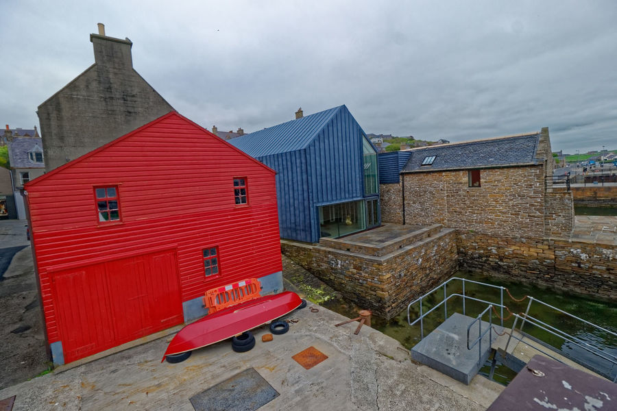 Stromness Harbour, Orkney Island, Scotland Cruise Ship Ferry Harbour Inter Island Ferries Architecture Art Gallery Boat Ramp Building Exterior Built Structure Cloud - Sky House Island Life Ring No People North Sea Outdoors Port Post Office Red Tin Tourism Town Travel Destinations