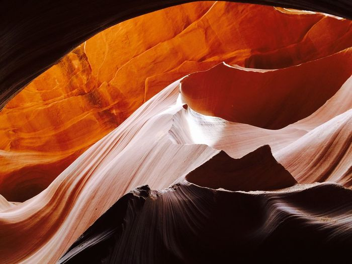 View of lower antelope canyon