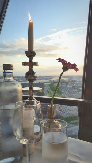 Romantic view over the city Romantic View Candles And Wine Check This Out Taking Photos Hello World Skyisthelimit Enjoying Life Relaxing