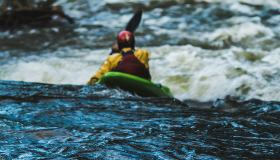 Kayak Adventure Oar Extreme Sports Wave Water Rapid Outdoors Aquatic Sport
