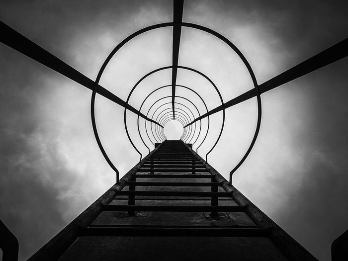 Metal No People Outdoors Sky Ladder Ladder To Heaven Ladder To Nowhere WeekOnEyeEm Blackandwhite Black And White Photography EyEmNewHere Capture The Moment Eye4photography  The Week On EyeEm The Week On Eyem Hello EyeEm✌ EyeEm Best Edits The Places I've Been Today Exeptional Photographs Getting Inspired EyeEm Selects EyeEm Best Shots EyeEm Spooky Steel Structure