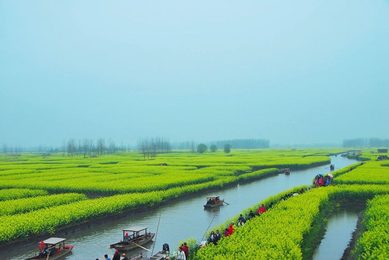 flower boat river people