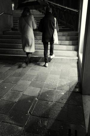rainy night in venice Bridge Venice Umbrella Dark Night Walking Full Length Two People Real People People Steps Sidewalk Women EyeEmNewHere