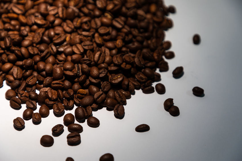 delicious beans Espresso Abundance Brown Caffeine Close-up Coffee Coffee - Drink Drink Food Food And Drink Fresh Freshness High Angle View Indoors  Large Group Of Objects No People Roasted Roasted Coffee Bean Scented Still Life Studio Shot Table