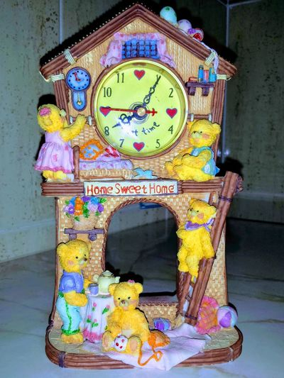 A Moment In Time Clock Indoors  Lovely Clock Multi Colored No People Place Of Heart Time