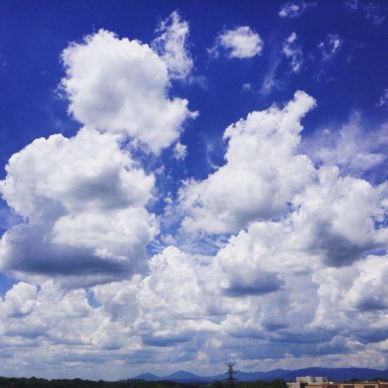 Clouds Fluffy Blue Sky 3-D