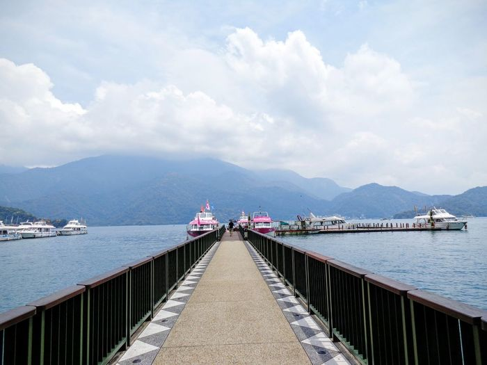 Landscape Vacations Bridge Harbour Outdoors Day Sky Moutain Sea Sea And Sky Lost In The Landscape