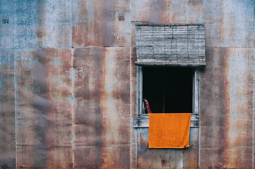Orange Towel Built Structure No People Day Outdoors Architecture Building Exterior Close-up Window Rusty Colour Your Horizn