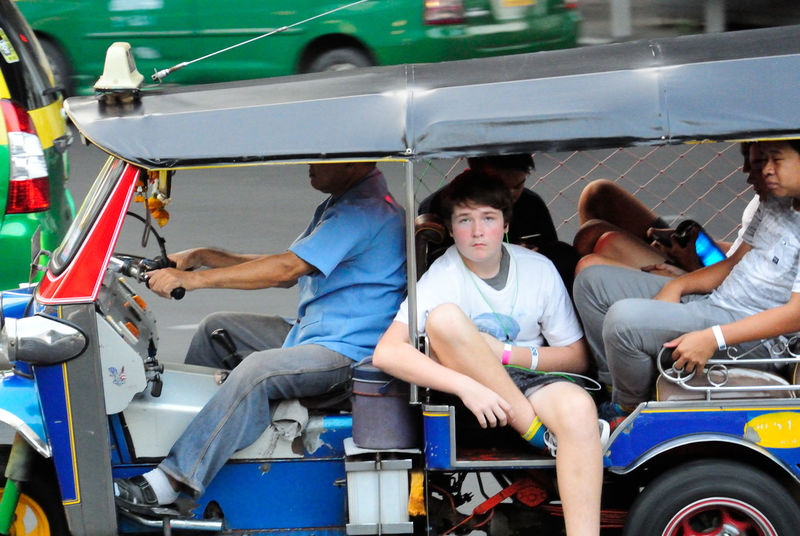 Bangkok Thailand. Boys Casual Clothing Childhood Day Enjoyment Fun Land Vehicle Leisure Activity Lifestyles Looking At Camera Men Mode Of Transport Person Real People Sitting Streetphotography Togetherness Took Took Transportation Travel Tuk Tuk Tuk Tuk Bangkok Dangerous Vehicle Interior