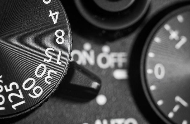 Close-up of dials
